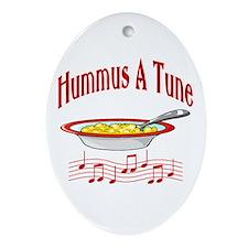 Hummus A Tune Oval Ornament