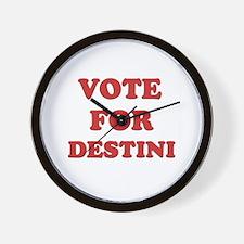 Vote for DESTINI Wall Clock
