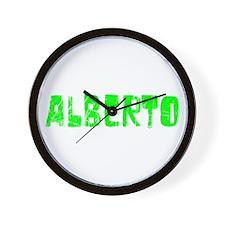 Alberto Faded (Green) Wall Clock
