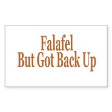 Falafel But Got Back Up Rectangle Decal