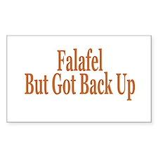 Falafel But Got Back Up Rectangle Decal