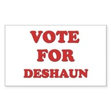Vote for DESHAUN Rectangle Decal