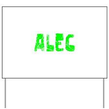 Alec Faded (Green) Yard Sign