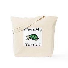 Cute Men turtle Tote Bag