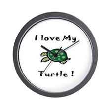 Cute Men turtle Wall Clock