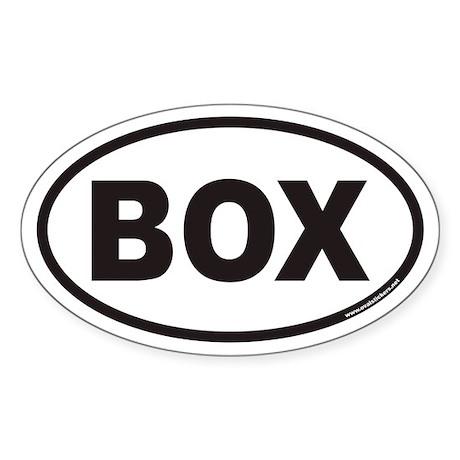 BOX Euro Oval Sticker