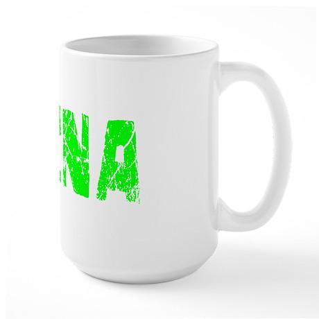 Aleena Faded (Green) Large Mug