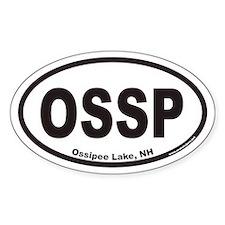 Ossipee Lake OSSP Euro Oval Decal