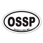 Ossipee Lake OSSP Euro Oval Sticker
