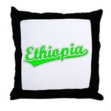 Retro Ethiopia (Green) Throw Pillow