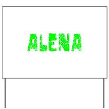 Alena Faded (Green) Yard Sign