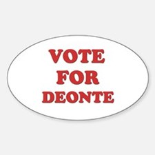 Vote for DEONTE Oval Decal