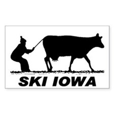 The Ski Iowa Store Rectangle Stickers