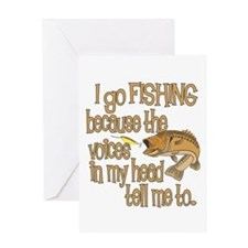 Why do you fish? Greeting Card