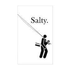 """Salty Flyrodder"" Rectangle Decal"