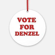 Vote for DENZEL Ornament (Round)