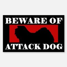 Beware of Attack Dog Havanese Decal