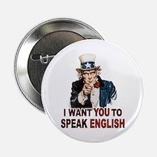 """English: SPEAK ENGLISH 2.25"""" Button"""