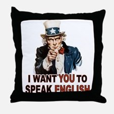 English: SPEAK ENGLISH Throw Pillow