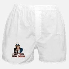 English: SPEAK ENGLISH Boxer Shorts
