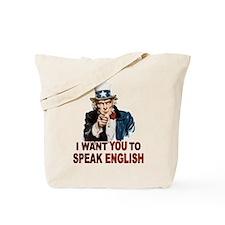 English: SPEAK ENGLISH Tote Bag