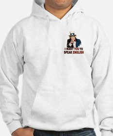 English: SPEAK ENGLISH Jumper Hoody