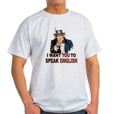 English: SPEAK ENGLISH T-Shirt