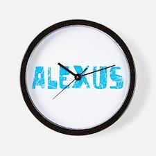 Alexus Faded (Blue) Wall Clock