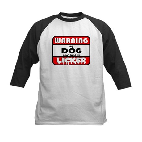 Dog LICKER Kids Baseball Jersey