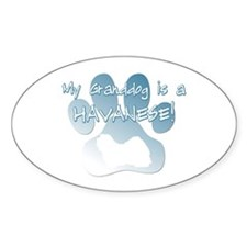 Havanese Granddog Oval Decal