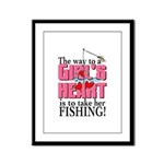 Fishing - Way to a Girl's Heart Framed Panel Print