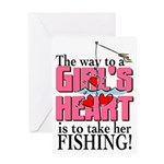Fishing - Way to a Girl's Heart Greeting Card