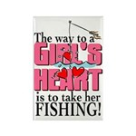 Fishing - Way to a Girl's Heart Rectangle Magnet