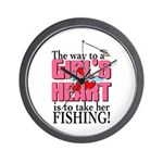 Fishing - Way to a Girl's Heart Wall Clock
