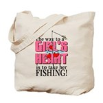 Fishing - Way to a Girl's Heart Tote Bag