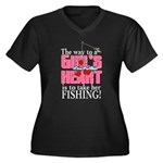 Fishing - Way to a Girl's Heart Women's Plus Size