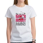 Fishing - Way to a Girl's Heart Women's T-Shirt