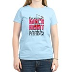 Fishing - Way to a Girl's Heart Women's Light T-Sh
