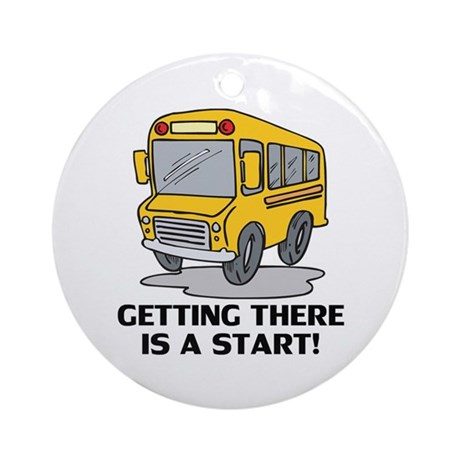 Gifts for School Bus Drivers Ornament (Round)