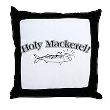 1328 Holy Mackeral Throw Pillow