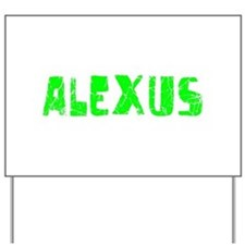 Alexus Faded (Green) Yard Sign