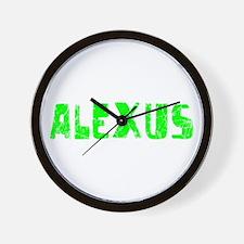 Alexus Faded (Green) Wall Clock