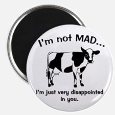 Cow Not Mad Just Disappointed Magnet