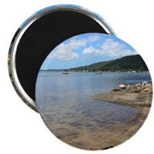 Brisbane Waters, NSW Round Magnet