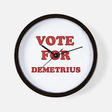 Vote for DEMETRIUS Wall Clock