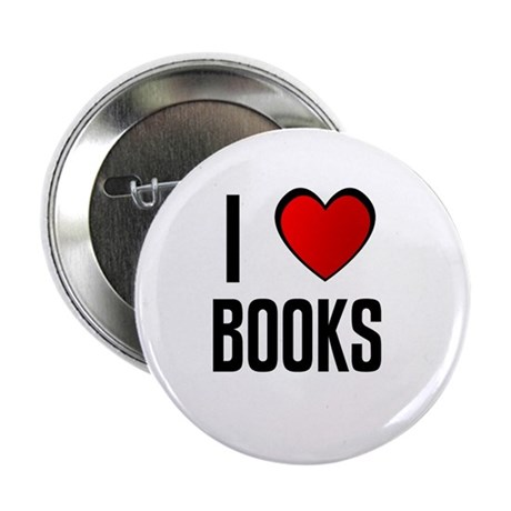 """I LOVE BOOKS 2.25"""" Button (100 pack)"""