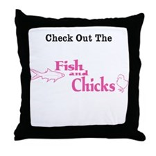 1428 Check Out the Fish & Chi Throw Pillow