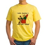 I Drink, Therefore Yellow T-Shirt