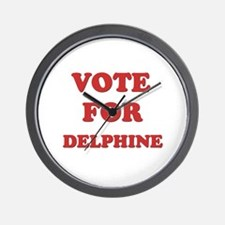 Vote for DELPHINE Wall Clock
