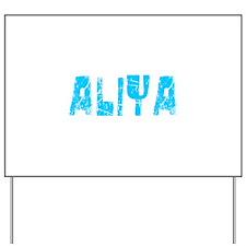 Aliya Faded (Blue) Yard Sign